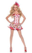 Sexy Halloween de adulto Mystery House Women's Cupcake California Gurl Disfraz