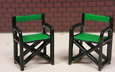 TWO PATIO CHAIRS  1:24 (G) Scale DIORAMA MINIATURE