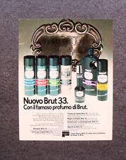 [GCG] M683 - Advertising Pubblicità - 1975 - NUOVO BRUT 33 , FABERGE'