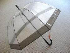 Regenschirm Glockenschirm Stockschirm transparent durchsichtig Rainy Days Damen
