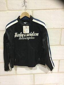 Harley Davidson motorcycle Vintage black/blue casual jacket  NEW size L
