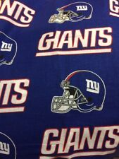 New York Giants On Blue With Helmets Valance