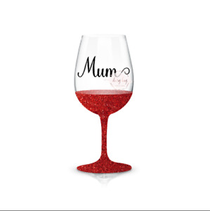 6 Mum Wine Glass / Bauble Vinyl Stickers Decals (V235) DIY Glass **New**