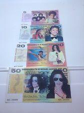 Michael Jackson Set De 4 Novedad Billetes Set-Regalo De Navidad idea