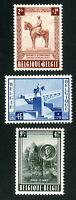 Belgium Stamps # B555-7 VF OG LH Set of 3 Scott Value $70.00