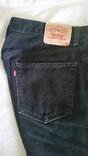 Vintage Levi's 505 Red Tag black denim jean 36X32
