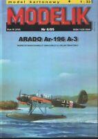 ORIGINAL PAPER-CARD MODEL KIT - Arado Ar-196 A-3