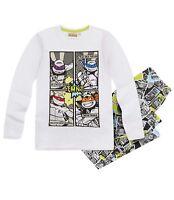 Ninja Turtles Pyjama Schlafanzug lang weiß/grau Gr.134