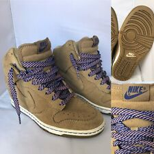Nike Dunk Sky Hi Suede Wedge Filbert-Bamboo Boots Trainers 528899-201 Size UK 4