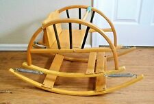 Vintage Baby Rocker Bounce Chair Wood