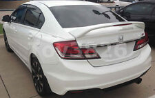 2012-2014 HONDA CIVIC 4DR SEDAN FACTORY SI STYLE SPOILER REAR WING -NH731P BLACK