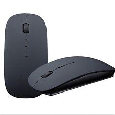 2.4GHz Ultra Thin Slim Wireless Mouse for PC Laptop Windows Apple Macbook Black