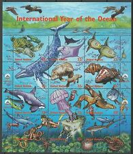 Nations Unies Uno Tortues Requins Dauphins Sharks Turtles Hai ** 1998 Carnet