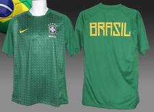Nike Brasil Brasil entrenamiento de fútbol Previo Partido Camisa Verde Puntos M