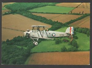 POSTCARD Aircraft HAWKER TOMTIT In Flight