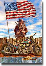 Harley Davidson Knucklehead Motorcycle Colt Walker 44 All American Art Print