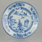 Antique 18th Century Chinese Porcelain Kangxi/Yongzheng Blue & White Plate