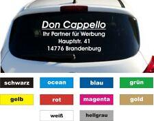 Werbung Autobeschriftung Aufkleber Heckscheibe 4 Zeilen Breite 80 cm