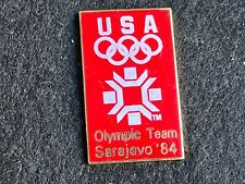 PIN PINS ENAMEL OLYMPIC GAME JO OLYMPIQUE USA SARAJEVO 1984 VERSION DORE