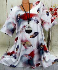 New York Designer Tunika Bluse Shirt Lagenlook A-Linie Longshirt  XXL 48 50
