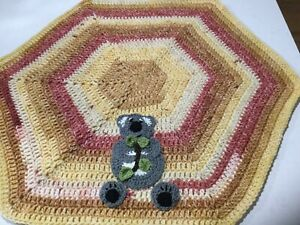 Koala With A Branch,Beautiful Hand Crochet Baby Car Capsule, Crib, Pram Blanket,