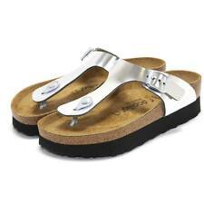 Papillio by Birkenstock Womens Gizeh Platform Open Toe Slip-On Flat Sandals NEW