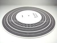 Elvon Stroboscope Disc Acrylic Turntable Mat Alignment Protractor Strobe Disc C2