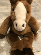"""Retired Build a Bear BABW Horse Pony Stuffed Plush Sounds Toy CLYDESDALE 18"""""""