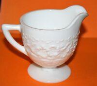 Vintage Milk White Indiana Glass Orange Blossom Creamer 4 Available Excellent !