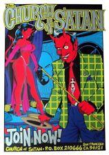 Coop - 1996 - Church of Satan Poster (Silver) 22.5 x 35