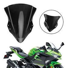 ABS Plastic Motorcycle Windshield Windscreen for Kawasaki 18-19 Ninja 400 Bk O5
