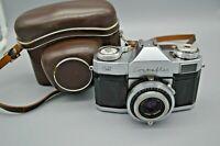 Vintage Zeiss Ikon Contaflex 35MM Camera Pantar 2.8 45 mm Prontor Reflex / Case