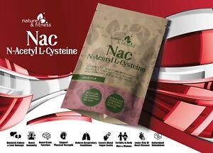 Nac N-Acétyl Cystéine Acide Aminé Capuchons - Anti-oxydant Supports Cerveau Sans