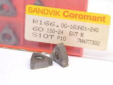 NEW SURPLUS 5PCS. SANDVIK  R166.0G-16UN01-240 GRADE: S10T CARBIDE INSERTS