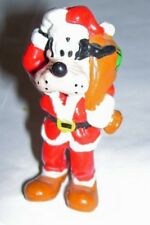 New listing 3 inch Pvc Disney / Applause figure / cake topper santa goofy carrying toy bag