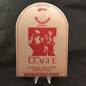 Human League Perkins Palace Concert Backstage Pass Satin Sticker Fasson Vtg 1982