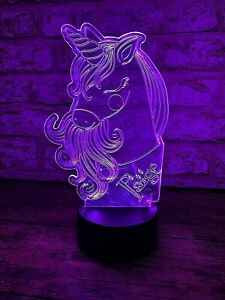 Personalised LED Colour Change Unicorn Nightlight | Unique Night Light For Kids