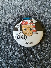Vintage advertising badge WEETABIX BRIAN 1980s ad campaign breakfast cereal