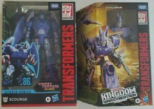 Transformers KINGDOM  Cyclonus and SS86 Scourge Lot NEW Studio Series 86