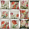 "18'"" Tulip Flower Pillow Case Sofa Car Waist Throw Cushion Cover Home Decoration"