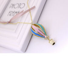 1 Pcs Womens Colorful Fire Balloon Necklace Hot Air Balloon Pendant Chain