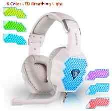 Sades A70 USB 7.1 Surround Sound 6 color Light Stereo Earphone Gaming Headset