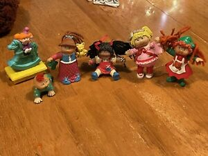 Vintage Cabbage Patch Kids MINI PVC DOLLS Toy Figures 1984 - 1994 RARE Lot of 6