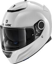 SHARK Spartan blanco whu Blanco Brillante Casco de MOTO - Medio