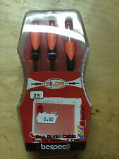 Bespeco SLYSRM300 - RCA / JACK STEREO  3 ML CABLE AUDIO PRO INTERLINK CABLE