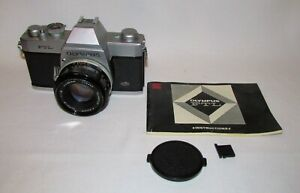 Olympus FTL 35mm SLR Film Camera With 1:1.8 f=50mm G.Zukio Screw Mount Lens