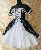 Lolita Punk Gothic Maid Wear Dress Uniform Cosplay Costume Halloween