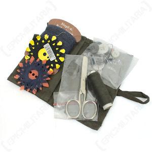 Original German Army Sewing Kit - Genuine Military Set Travel Needle Thread Case
