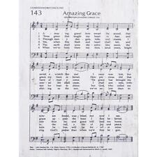 "AMAZING GRACE Heavenly Hymns Wooden Plaque, 5.5"" x 7.25"" P. Graham Dunn"