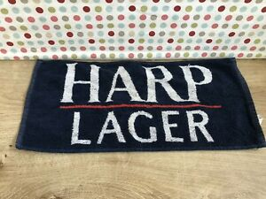 Vintage Harp Lager Bar Towel used